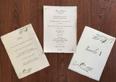 Menù di nozze arti grafiche Roma in carta Amalfi