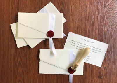partecipazioni di noze in carta amalfi con ceralacca