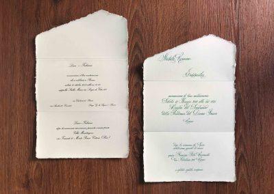 Partecipazioni Matrimonio Carta Amalfi.Foto Partecipazioni Di Nozze Carta Amalfi Arti Grafiche Roma