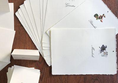 segnatavoli in carta amalfi