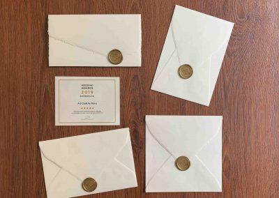 Partecipazioni in Carta Amalfi Ceralacca Oro