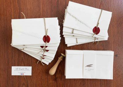 Carta Amalfi con Spago + Ceralacca Rossa