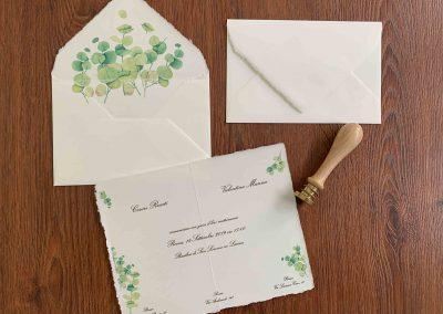 Partecipazioni Matrimonio in Carta Amalfi con busta