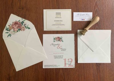 Partecipazioni di Matrimonio in Carta Amalfi con busta