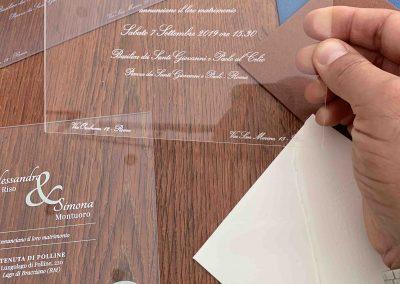 Partecipazioni di nozze in plexiglass2
