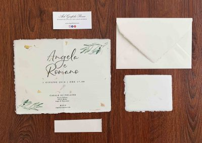 Partecipazione Amalfi 12x18 Fiori