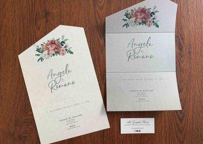 Partecipazioni di Matrimonio in Carta Perlata