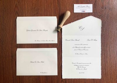 Partecipazioni Amalfi con buste personalizzate
