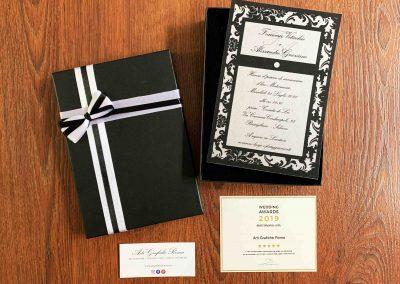 Partecipazioni di Matrimonio in Carta Perlata.