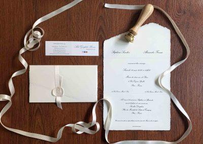 Partecipazioni di Matrimonio Amalfi Bianco Perla