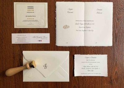 Partecipazioni in Carta Amalfi 12x18 Cm