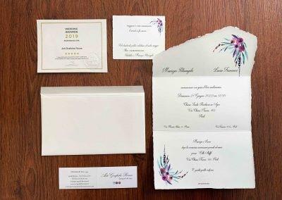 Partecipazioni in Carta Amalfi Personalizzate con buste Amalfi
