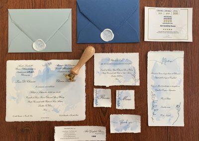Invito 12x18 Carta Amalfi con busta vari colori