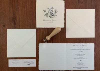 Inviti Carta Amalfi color Avorio e Pesco