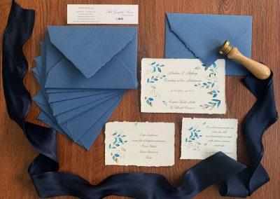 Partecipazioni Amalfi 12x18 Busta Blu