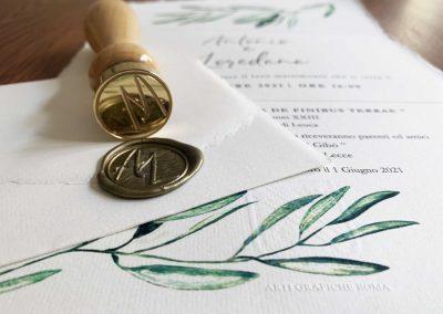 Partecipazioni di Matrimonio Verde Ulivo